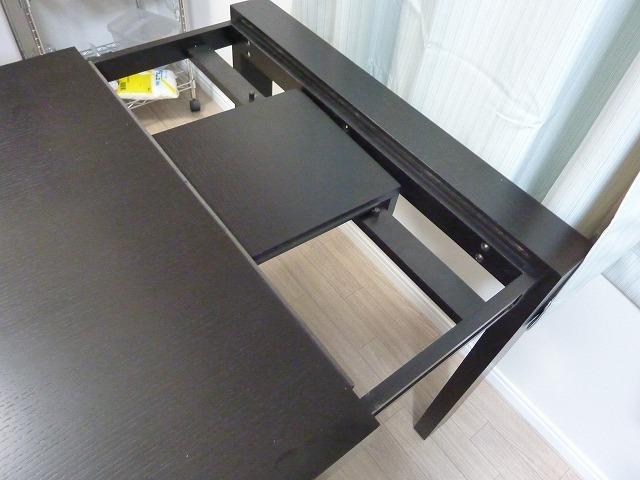 このダイニングテーブルは伸縮 ...